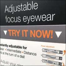 Alden® Adjustable Focus Eyewear Try Me Feature