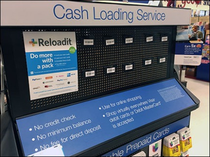 Cash Loading Card Perforated Display 1