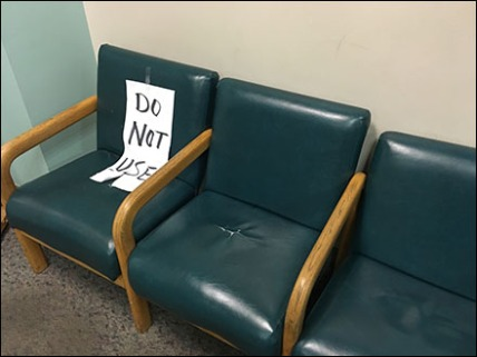 Do Not Use Seating Sign 1