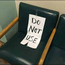 Do Not Use Seating Sign 2