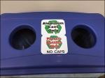 Dual Openning Recycling Bin Closeup