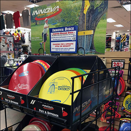 Innova Disc Golf Frisbee Display  Main