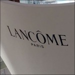 Lancome Branded Salon Seating Logo CloseUp