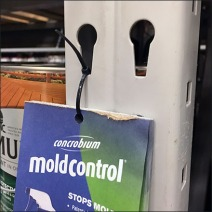 Mold Control Zip Tie Tear-off Closeup
