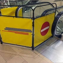 Neiman Marcus Branded Escalator Out-Of-Service Baracade 1