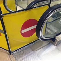 Neiman Marcus Branded Escalator Out-Of-Service Baracade 2