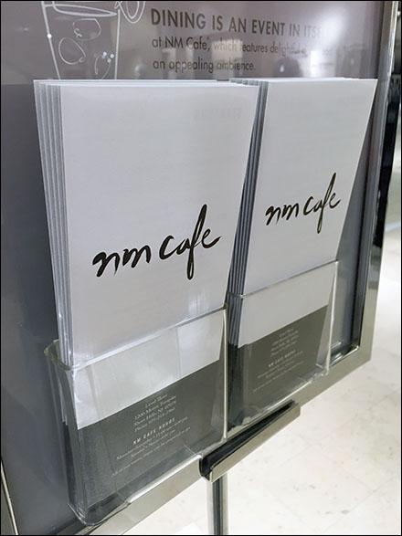 Neiman Marcus Cafe Menu-To-Go 1