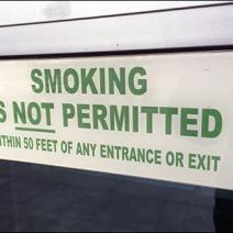 No Smoking Within 50 Feet Main