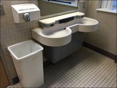 Restroom Sink Soap Dispenser Built In 1
