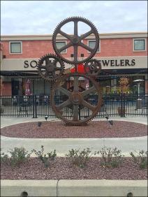Strip Mall Gear Art Industrial Heritage 1
