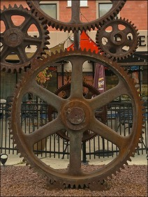 Strip Mall Gear Art Industrial Heritage 3