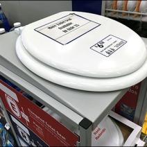 Toilet Seat Wayfinding Directional 1