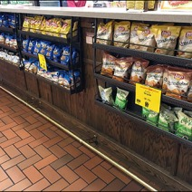 Under-Counter Perforated Snack Racks 1