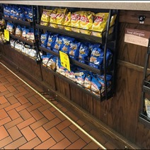 Under-Counter Perforated Snack Racks 2