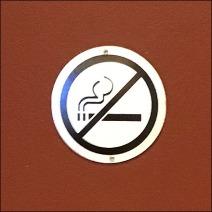 Understated No Smoking Medalion CloseUp