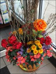 Wood Bucket Floral Store Welcome Aux