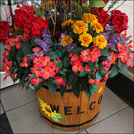 Wood Bucket Floral Store Welcome Main