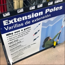 Extension Pole Grid Dividers Feature