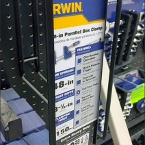 Irwin Bar Clamp Pegboard Hooks 5