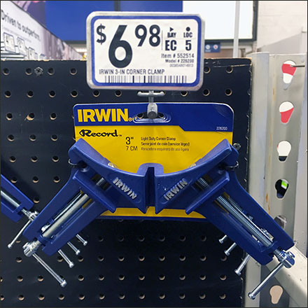 Irwin Corner Clamp Scan Hook Closeup