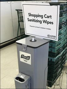 JoAnns Purell Sanitizier Cart Wipes 2