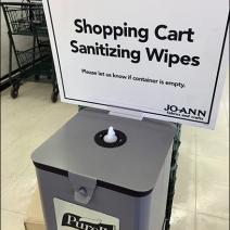 JoAnns Purell Sanitizier Cart Wipes 3a