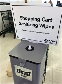 JoAnns Purell Sanitizier Cart Wipes 3a