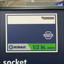 Kobalt Color Coding Drive Size 3
