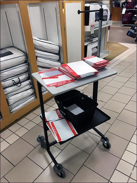 Macys Visual Merchandising Signage Cart Main