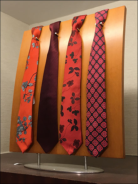 Necktie Pin-Up Board Standoffs Angled