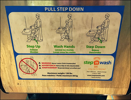 Restroom Step N Wash Instructions Aux