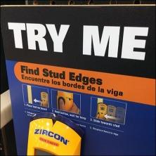 Zircon Stud Finder Try Me Feature