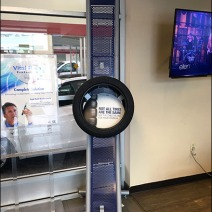 Auto Tire Perforated Metal Display 1a