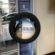 Auto Tire Perforated Metal Display 2