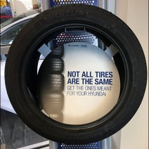 Auto Tire Perforated Metal Display 3
