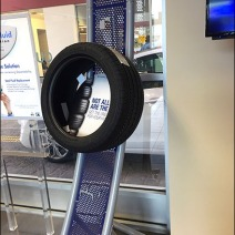 Auto Tire Perforated Metal Display 5