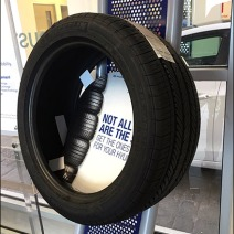 Auto Tire Perforated Metal Display 6
