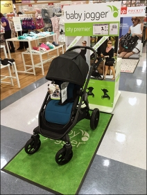 Babies R Us Baby Jogger Green Floor Graphic 1