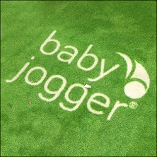 Babies R Us Baby Jogger Green Floor Graphic Feature