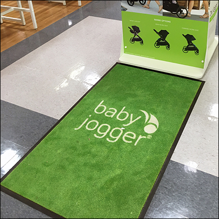 Babies R Us Baby Jogger Green Floor Graphic Main