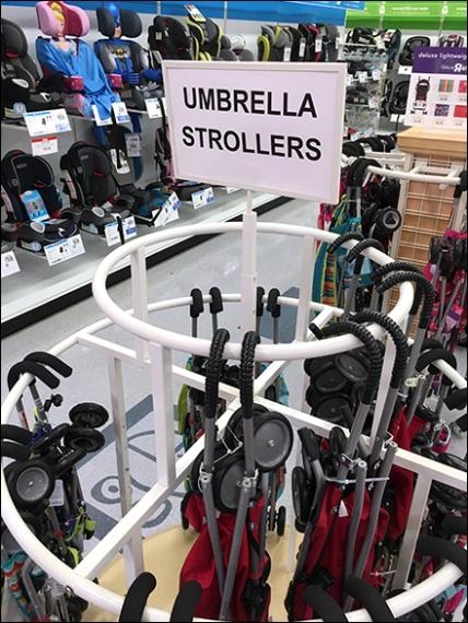 Babies R Us Umbrella Stroller Circular Rack 3