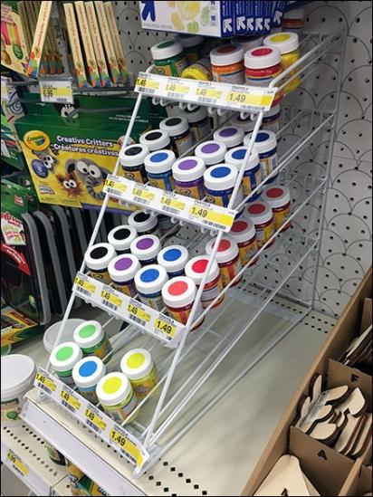 Crayola Paints On-Shelf Gravity Feed Rack 1