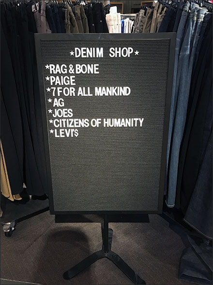 Deniem Shop Feltboard Sign Main