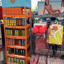 Hawaiian Tropic Banana Boat Suntan Lotion Display 1
