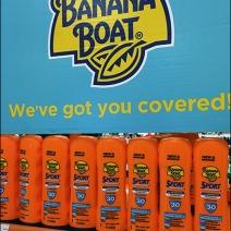 Hawaiian Tropic Banana Boat Suntan Lotion Display 3