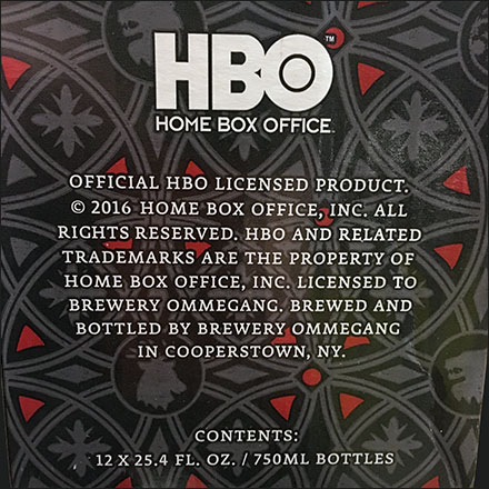 Official HBO Licensed Product TM