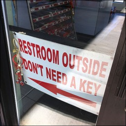 Restroom Outside Don't Need A Key Feature