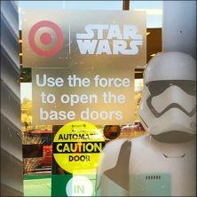 Star Wars Trooper Door Cling Display Square 2