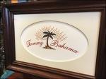 Tommy Bahama Matted Framed Logo