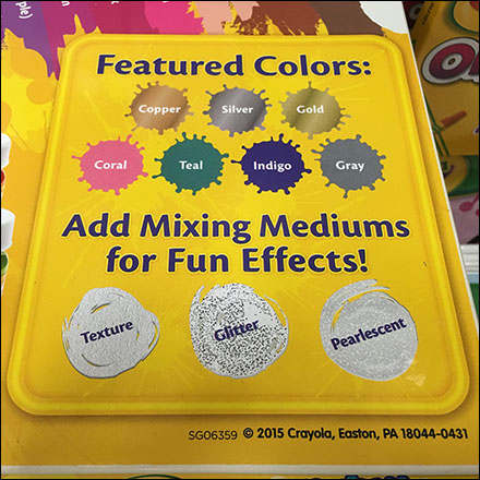 Crayola Color Coded Gravity Feed Display Square 2
